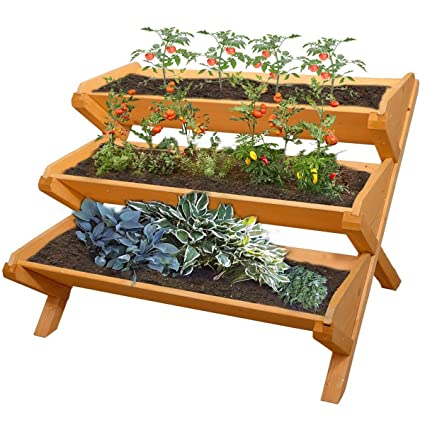 Amazon Com Yardeen 3 Tier Cascading Raised Bed Garden Planter