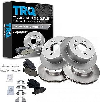 Front 296 mm Brake Disc Rotors And Ceramic Brake Pads For V6 Lexus ES300 ES330