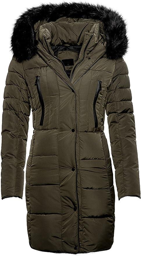 Damen Seitlicher Reißverschluss Hoher Kragen Mantel Warme