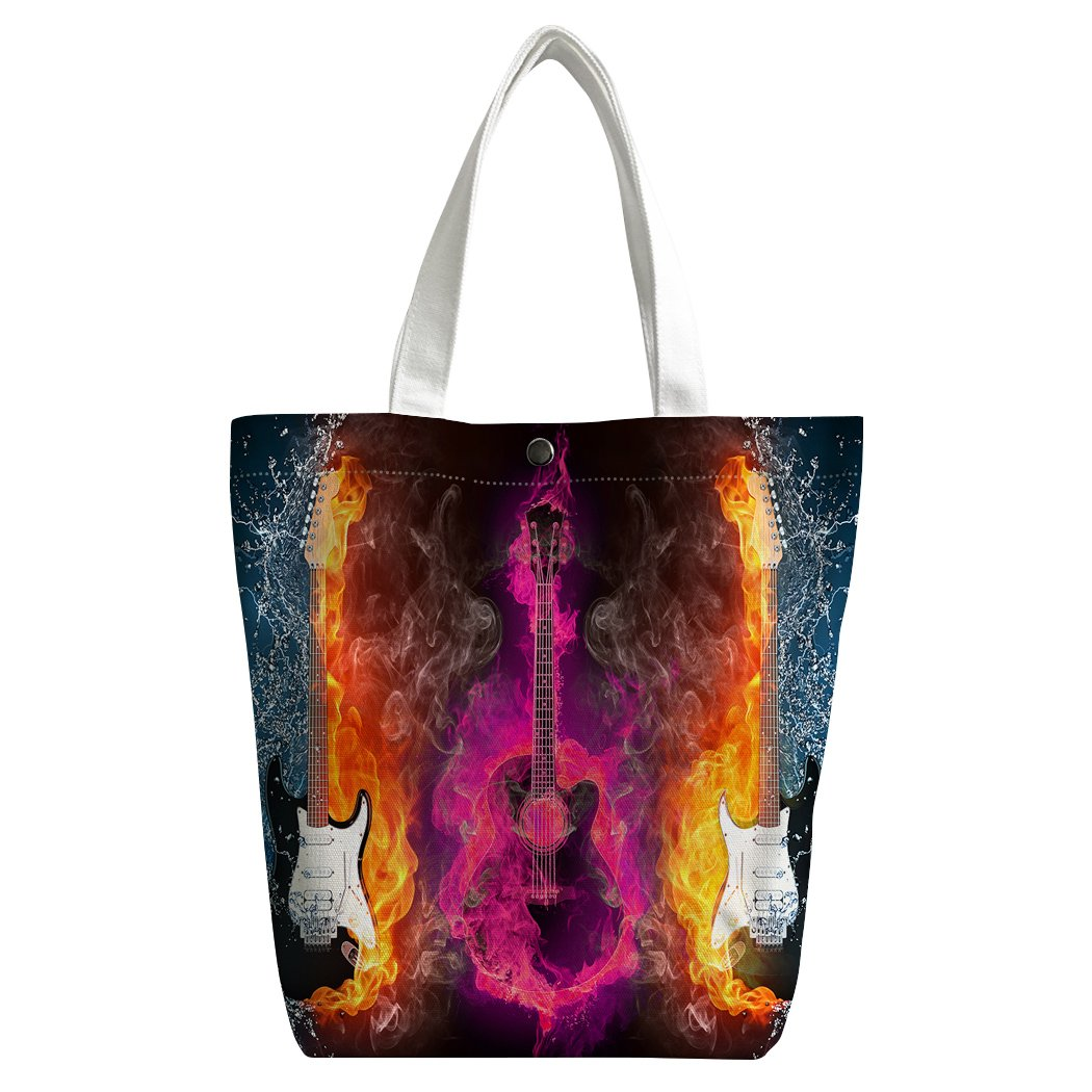 Violetpos activas Canvas bolso bandolera escolar Lunch - Bolsa de la compra para guitarra eléctrica Alma Fuego jeringuillas: Amazon.es: Hogar