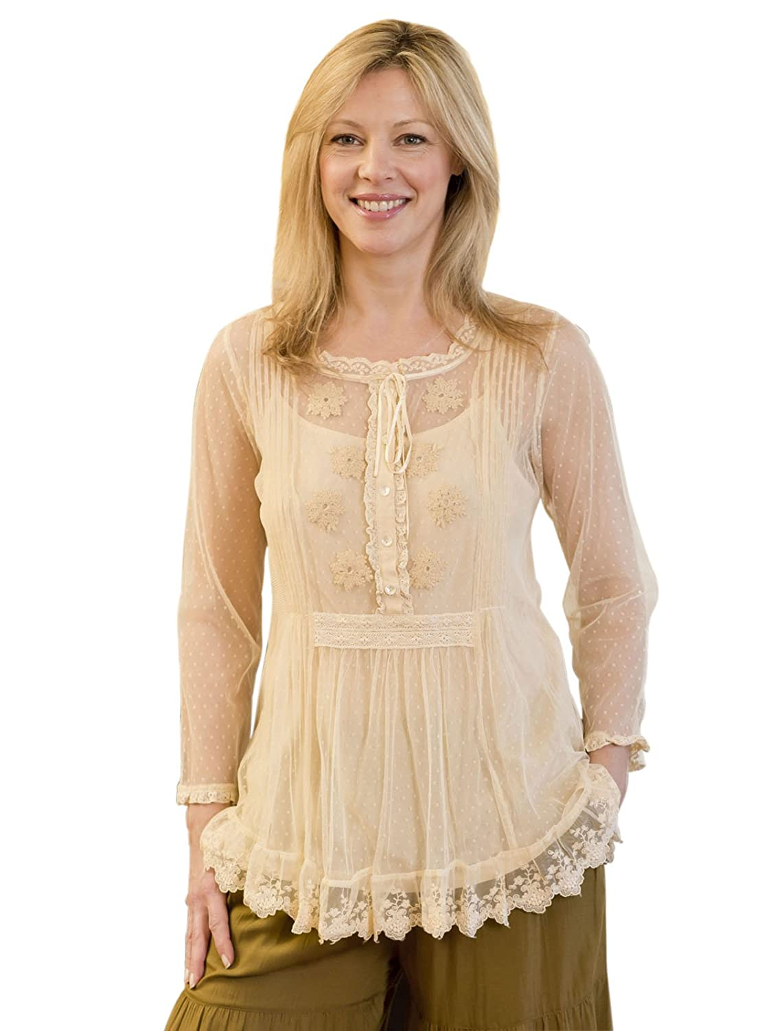 Edwardian Style Blouses Mariposa Blouse $64.50 AT vintagedancer.com