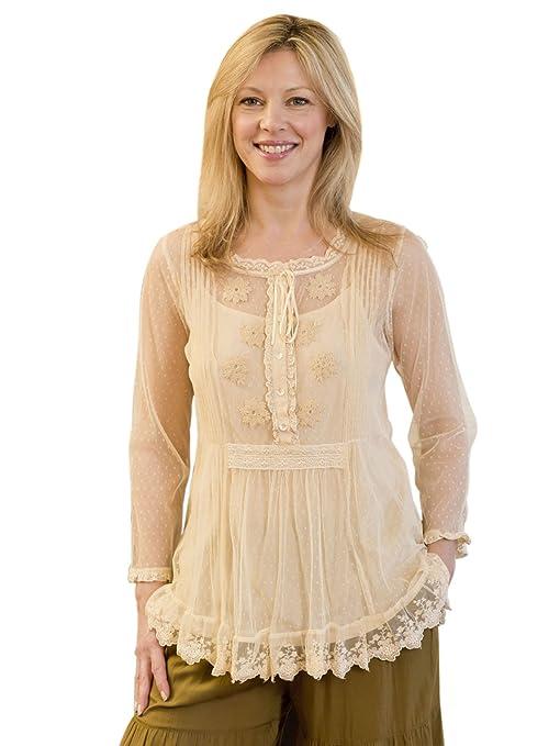 Victorian Blouses, Tops, Shirts, Vests Mariposa Blouse $64.50 AT vintagedancer.com