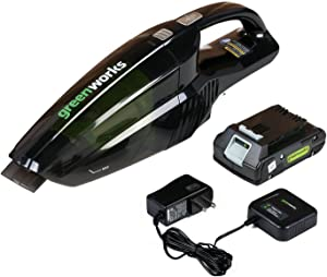 Greenworks BVU24210 24V Handheld Vacuum with 2Ah Battery and Charger
