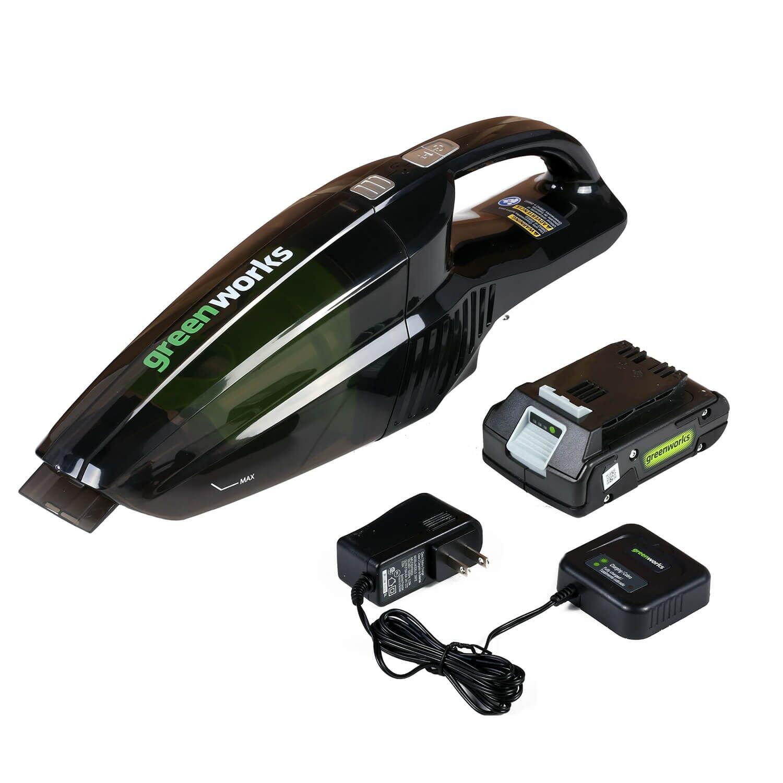 Greenworks 24V Cordless Handheld Vacuum, 2.0 AH Battery Included BVU24210
