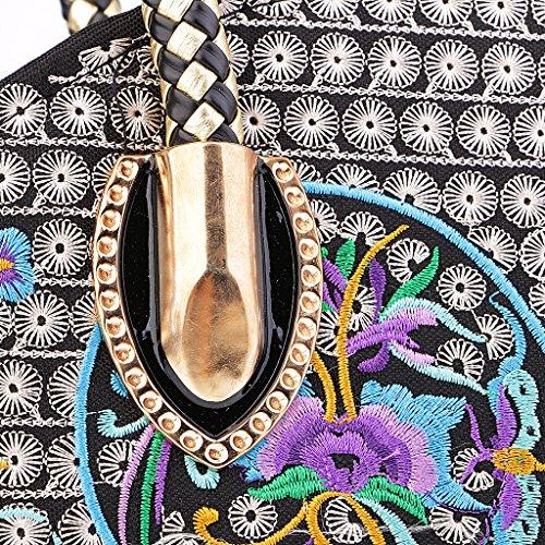 Vendimia La Exquisitas Bordado De Retro Magideal Hombro Del purple Bolsa De Mujeres De Recorrido La Flor Del Bolso 5Z5qWwr6