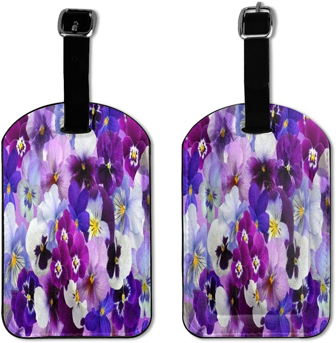 The Beautiful Flower Girl Violet Luggage Tag Leather