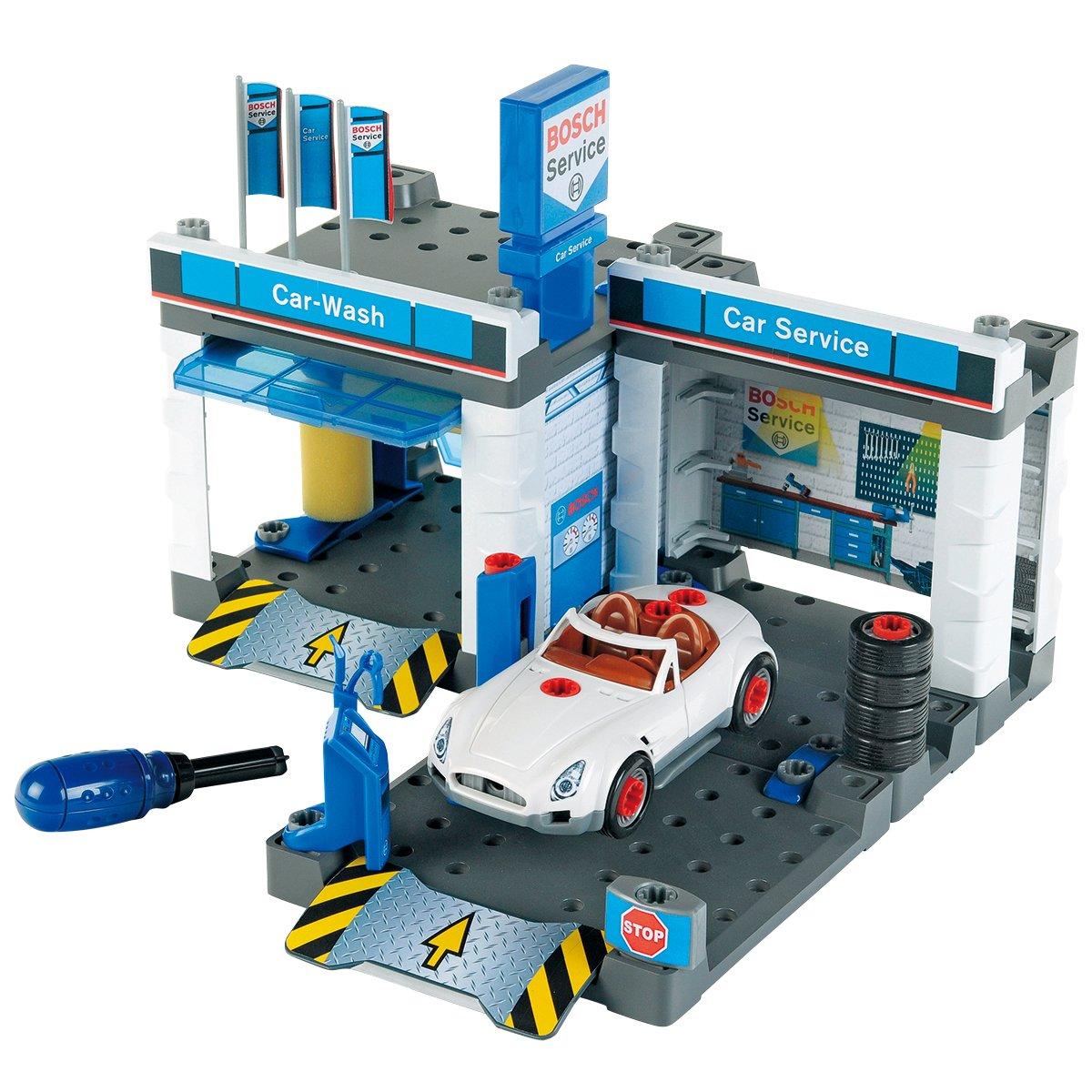 Bosch Werkstatt Kinderspielzeug - Theo Klein 8647 BOSCH Autowerkstatt mit Waschstraße