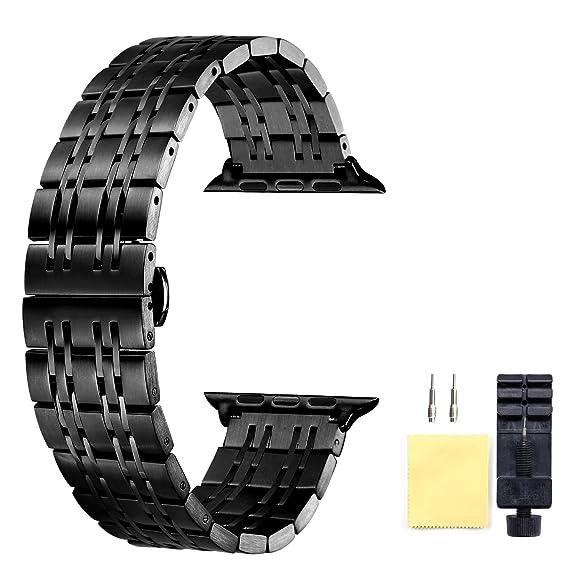 Correa de repuesto Apple Watch Band 38mm negra de liberación rápida para Apple Watch Series 3