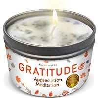 Magnificent101 Gratitude Aromatherapy Candle for an Appreciation Meditation - Rose, Jasmine, Lavender, Lilac Scented…