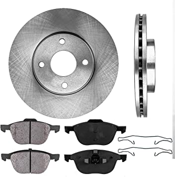 Front and Rear Rotors /& Ceramic Pads For 2005 2006 2007 FORD FOCUS