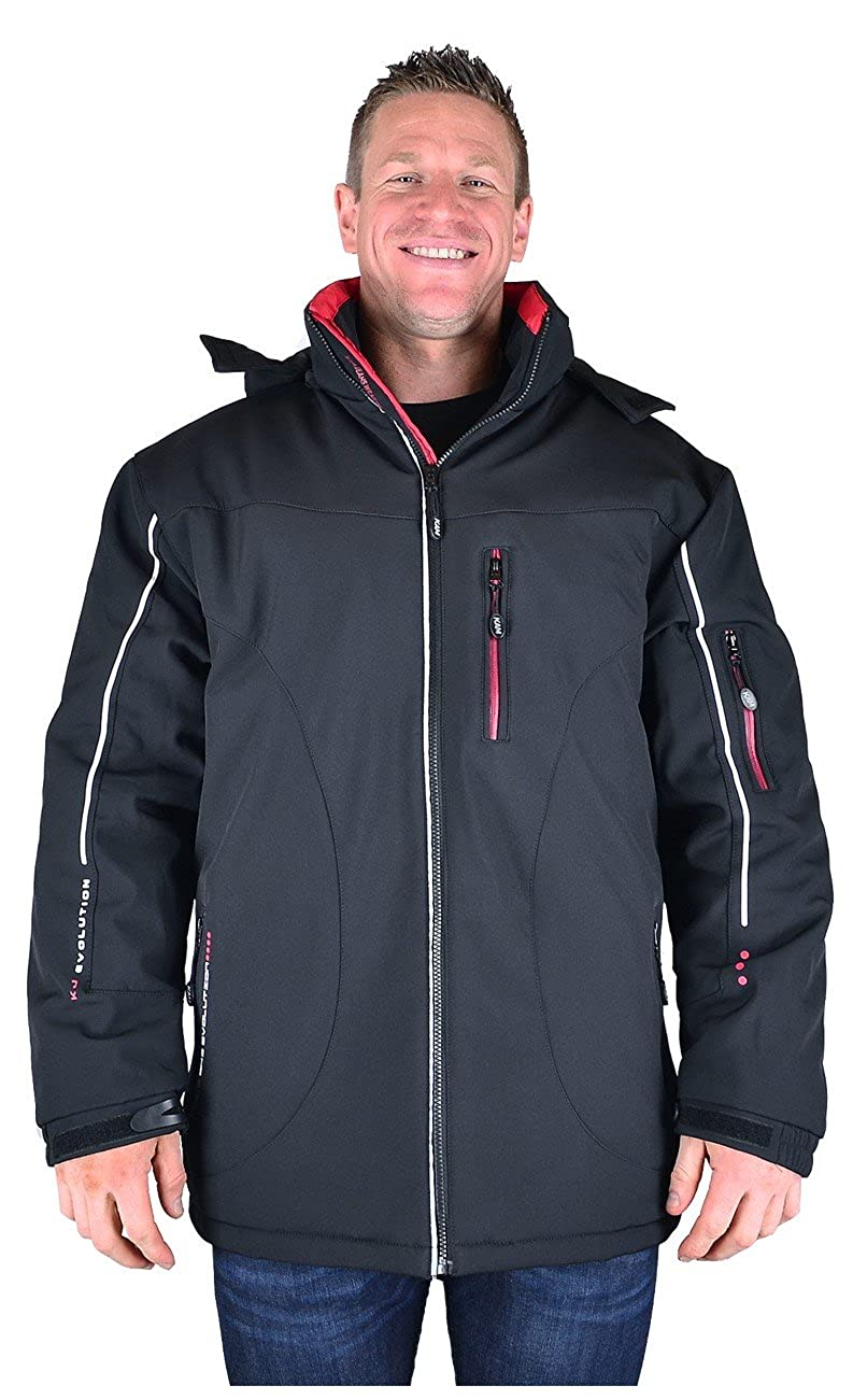 KAM Water Proof Soft Shell Performace Jacket With Detachable Hood in Size 2XL to 8XL KV39