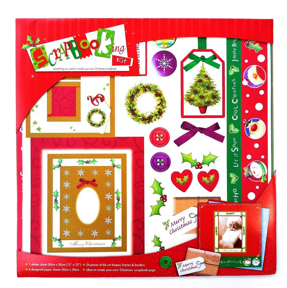 Christmas Scrap Booking Kit - Everything You Need to Create Your Own Christmas Scrapbook Alef