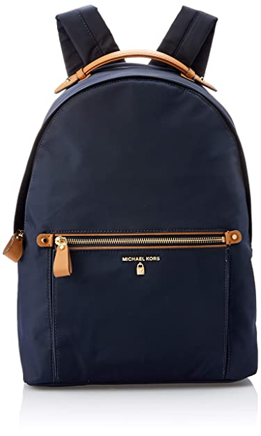 087dabb2132 Image Unavailable. Image not available for. Color  Michael Kors Kelsey  Nylon Large Backpack- Admiral