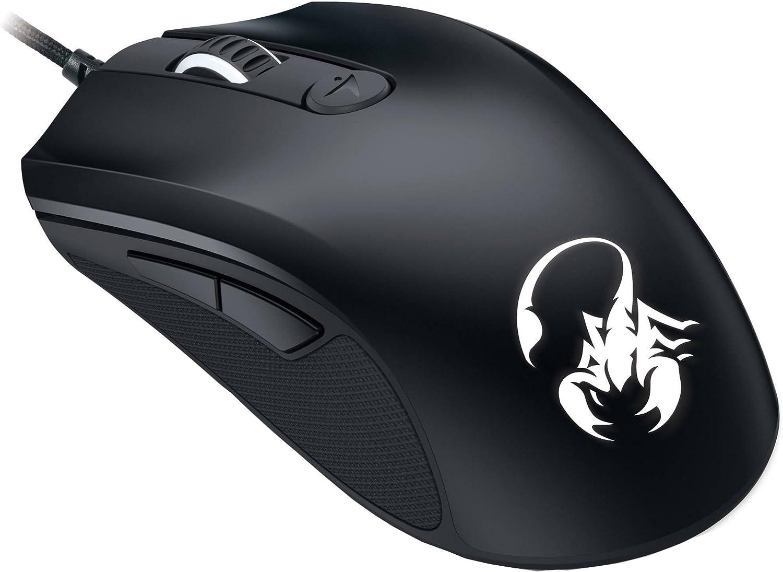 Genius Scorpion M6-600 - Ratón (Mano Derecha, Óptico, USB, 5000 dpi, Negro)