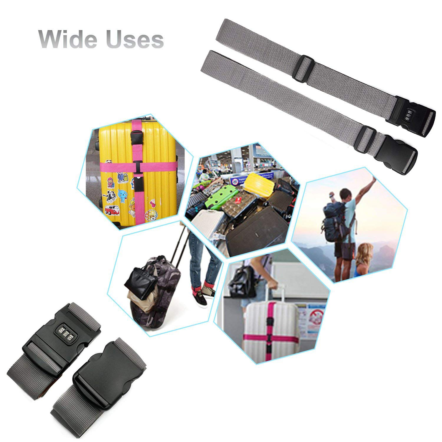 Cow Luggage Strap Suitcase Straps Travel Belts Accessories