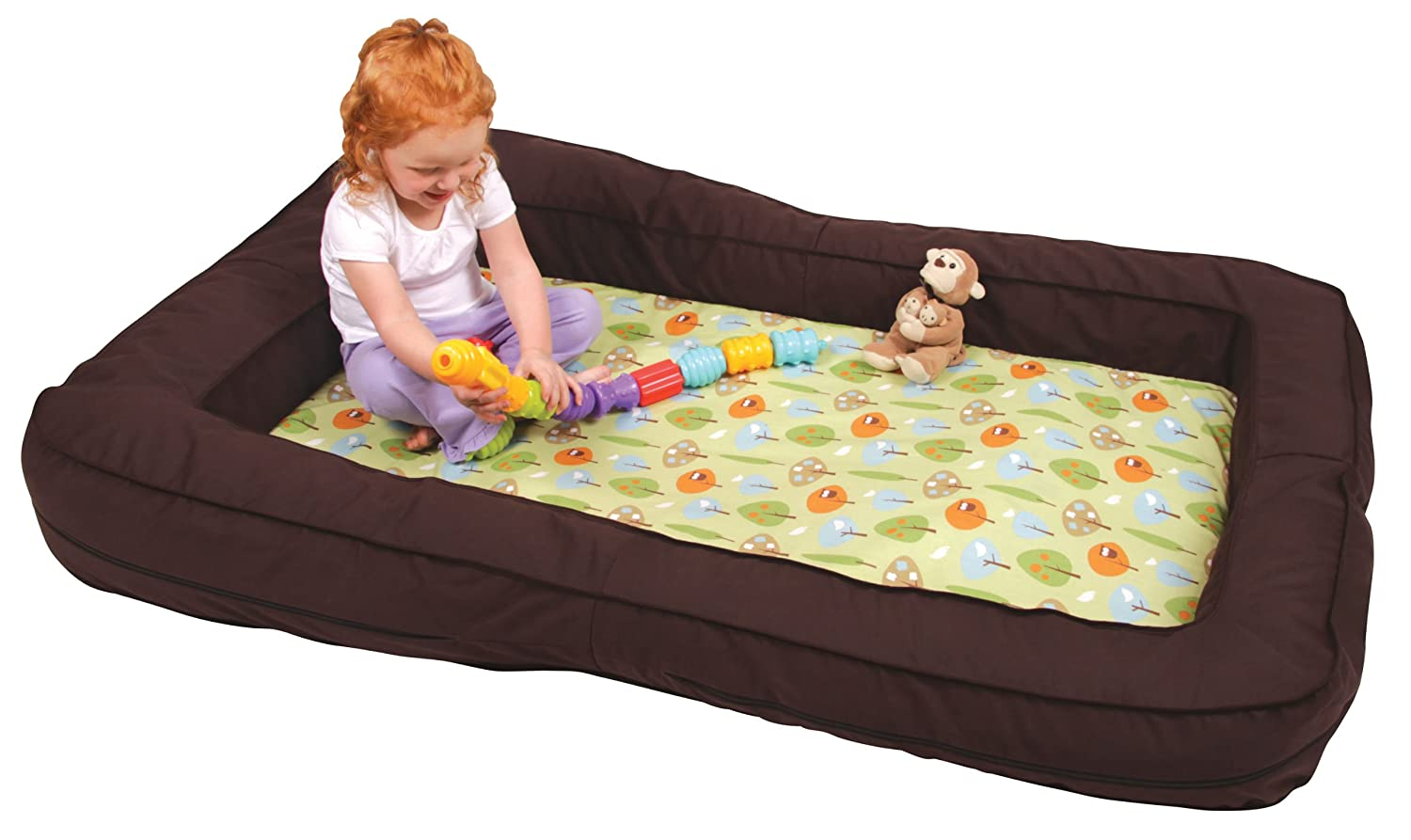 Amazon Leachco BumpZZZ Travel Bed Brown Green Forest Frolics Toddler Beds Baby
