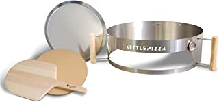 product image for KettlePizza Deluxe Charcoal Pizza Oven Kit for 26.75 Inch Weber Kettle Grill