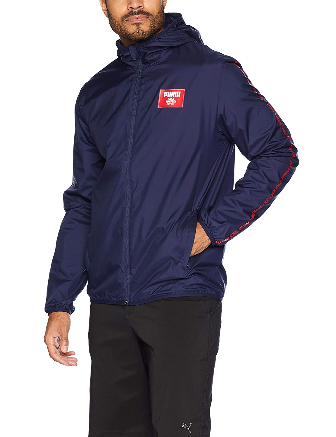 PUMA Mens Standard Graphic Windbreaker