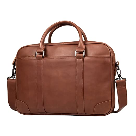 2b1d11554d93 Messenger Bag for Men Leather Crossbody bag 15 inches Laptop Bag Briefcase