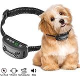 Hunde Erziehungshalsband, OMorc Trainingshalsband Vibrationshalsband Anti-Bell Halsbänder mit 7-Levels Empfindlichkeit für kleine und mittelgroße Hunde-Sicher Keine Schmerzen(Schwarz)