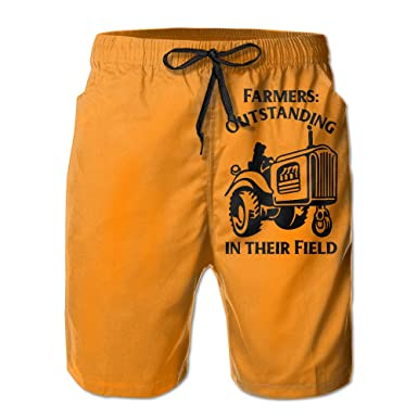 35d9567b6bbf0 Hailin Tattoo Farmers Outstanding In Their Field Men's Pants Dry Fast  Suitable For Both Beach And