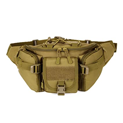 c9500e48c3fc ChilMo Tactical Waist Pack Bag Waterproof Military Fanny Packs Hip Belt Bag  Pouch for Hiking Climbing Bumbag