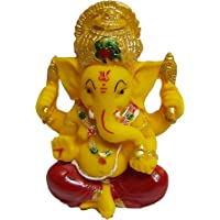 PARIJAT HANDICRAFT The Blessing A Colored Statue of Lord Ganesha Ganpati Elephant Hindu God Idol Made from Polyresin…