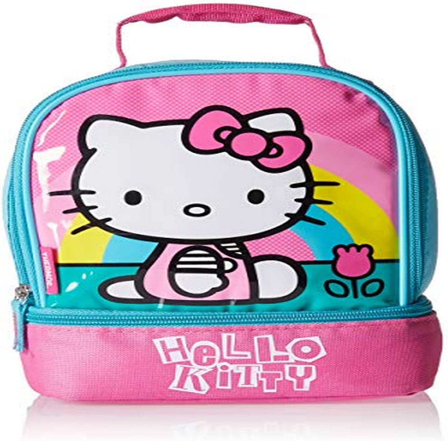 Thermos Kids Lunch Bag Insulated Lunch Bag For Kids School Hello Kitty Dual Compartment Lunch Kit