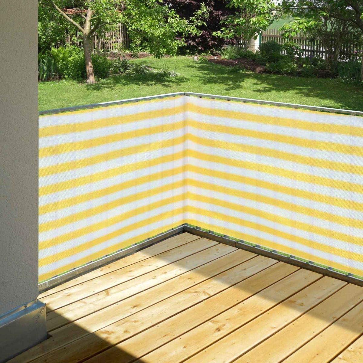Garten ohne bohren Terrasse und Sichtschutz f/ür Balkon Wind Balkonsichtschutz terra 90 x 500 cm aus HDPE wetterfest /& langlebig