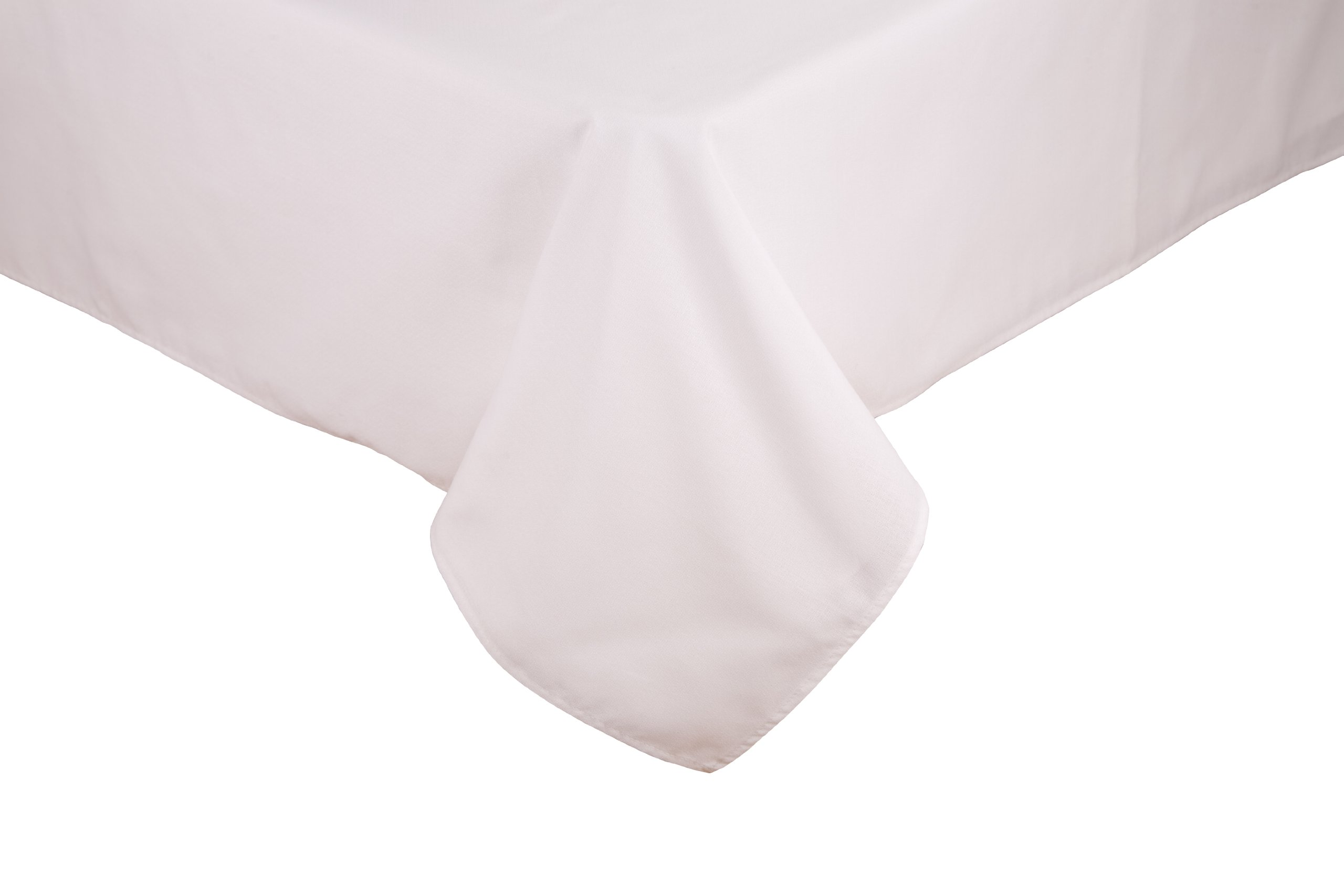 "Riegel Premier 100-Percent Polyester 62-Inch by 62-Inch Tablecloth, White - 7.2 oz/sq yard;superior stain release; no picking, snagging, or linting Machine wash and tumble dry low; remove and fold promptly after drying 100% spun polyester 62"" x 62"" tablecloth - tablecloths, kitchen-dining-room-table-linens, kitchen-dining-room - 71YR0beZr8L -"