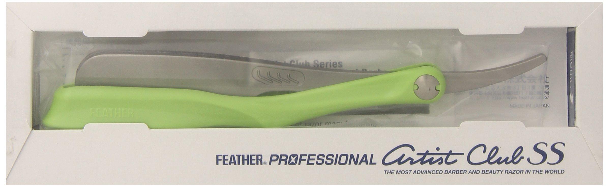 Feather SS Folding Handle Razor, Lime