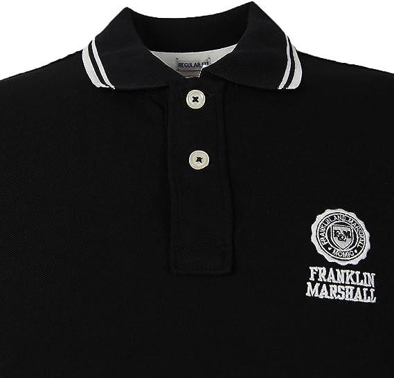 Franklin & Marshall POMVA194ANW16 Polo, Negro (Black), X-Large ...