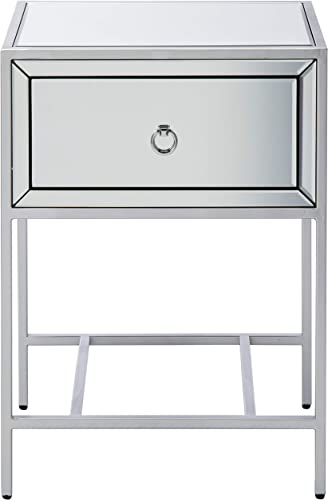 Best living room table: Christopher Knight Home Inka Mirrored One-Drawer Side Table