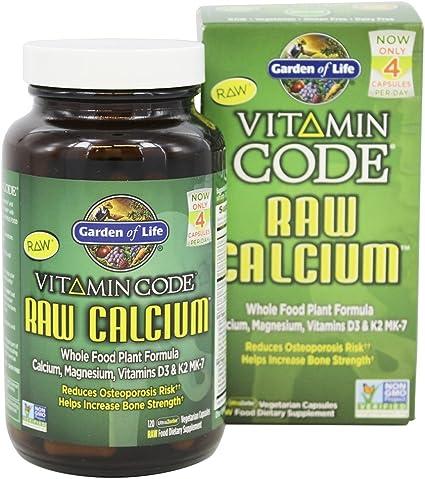 Amazon Com Garden Of Life Vitamin Code Raw Calcium 120 Vegetarian Capsules Health Personal Care