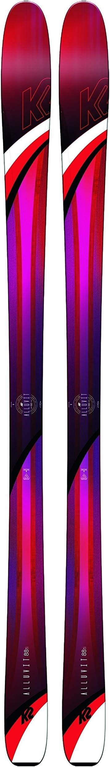 K2 Pack esquí alluvit 88 TI + Fijaciones Squire 11 ID – Mujer – Rosa, Rose, 156 cm: Amazon.es: Deportes y aire libre