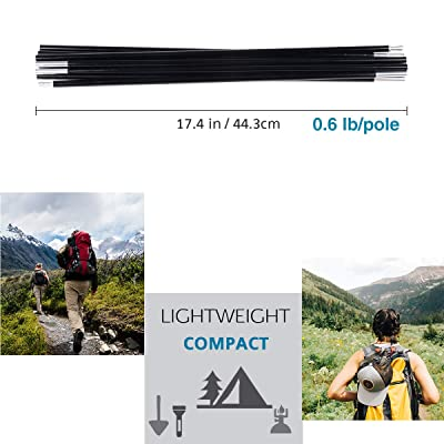 Aluminium Alloy Camping Tent Pole Repair Tube End Plug For Outdoor Picnic Hiking