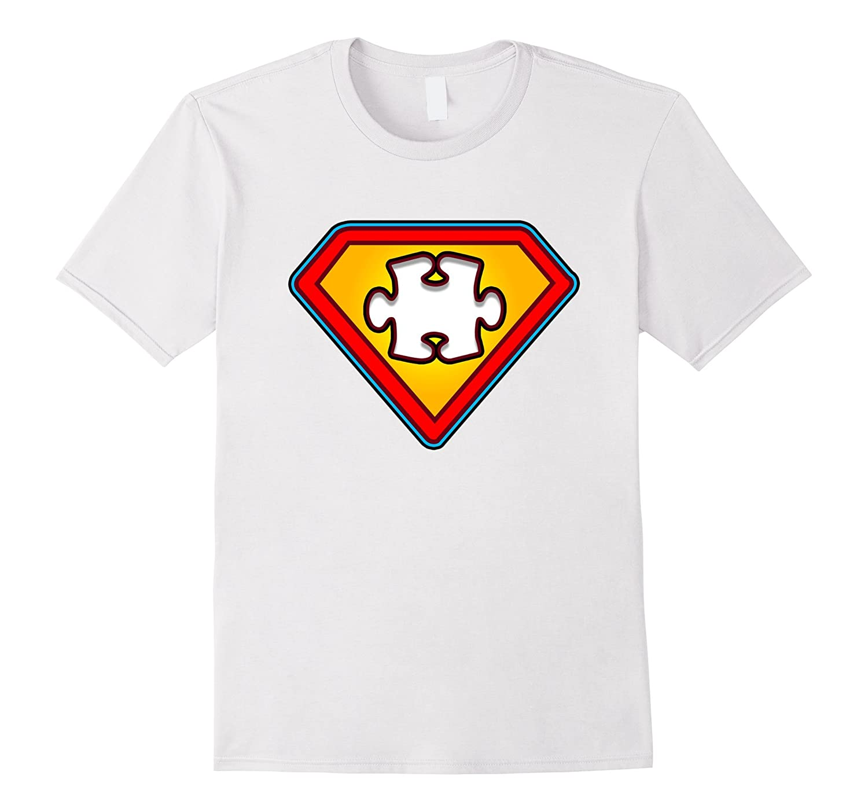 Autism Awareness Superhero Tshirt  SUPER AUTISM-MAN