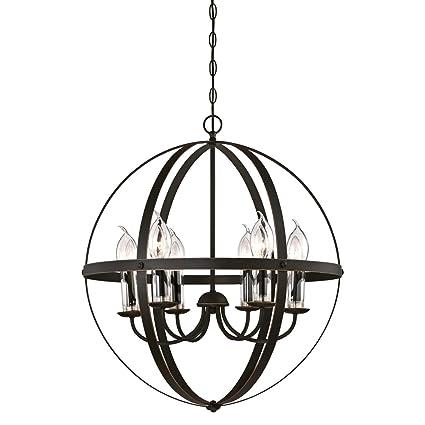 buy popular 8a5b2 fd45f Westinghouse Lighting 6339000 Stella Mira Six-Light Outdoor Chandelier, Oil  Rubbed Bronze.