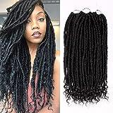 GX Beauty 3Pcs/Lot Straight and Curly Faux Locs Goddess Locs Crochet Hair 16Inch Synthetic Crochet Braiding Hair Extensions 2