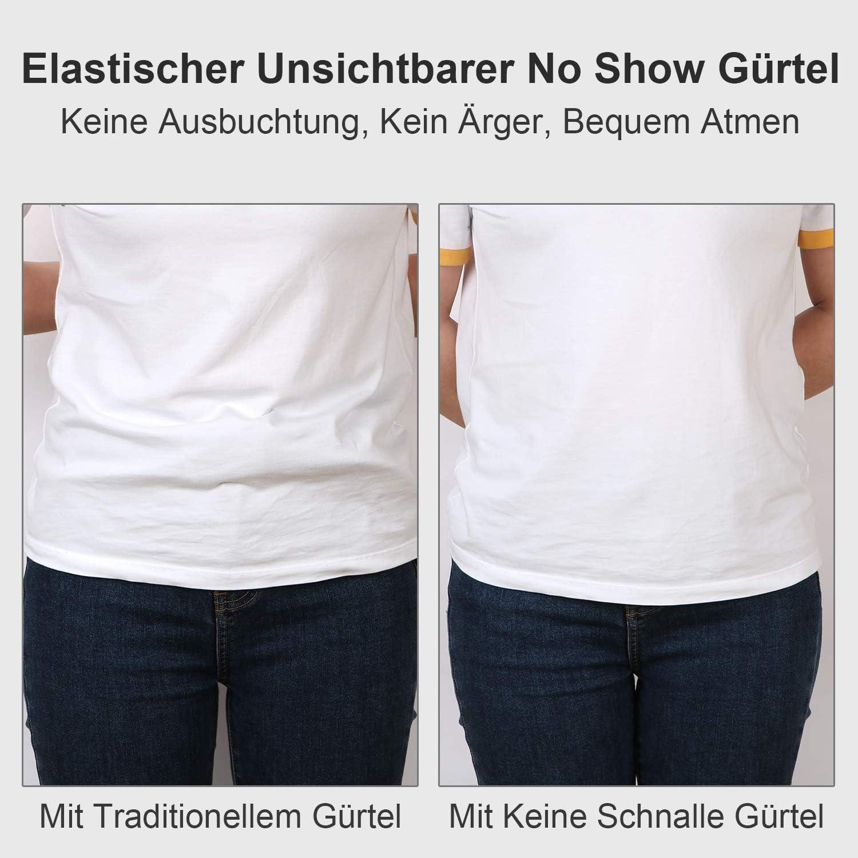 Unsichtbarer Elastischer G/ürtel f/ür Jeans Hosen JasGood 4 St/ück Schnallefrei Verstellbarer G/ürtel Ohne Schnalle f/ür Damen oder Herren