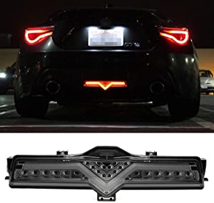 iJDMTOY Smoked Lens Full LED Rear Fog Light Kit (Rear Fog, Brake, Reverse Features) Compatible With 2013-2016 Scion FR-S, 2013-2020 Subaru BRZ, 2017-up Toyota 86