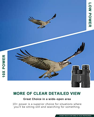 Eyeskey Professional Binoculars Waterproof Fogproof for Adults Bird Watching Hunting Backpacking – Clear Bright Image – Wide Field of View – Eay to Focus – Perfect for The Outdoors 10X42
