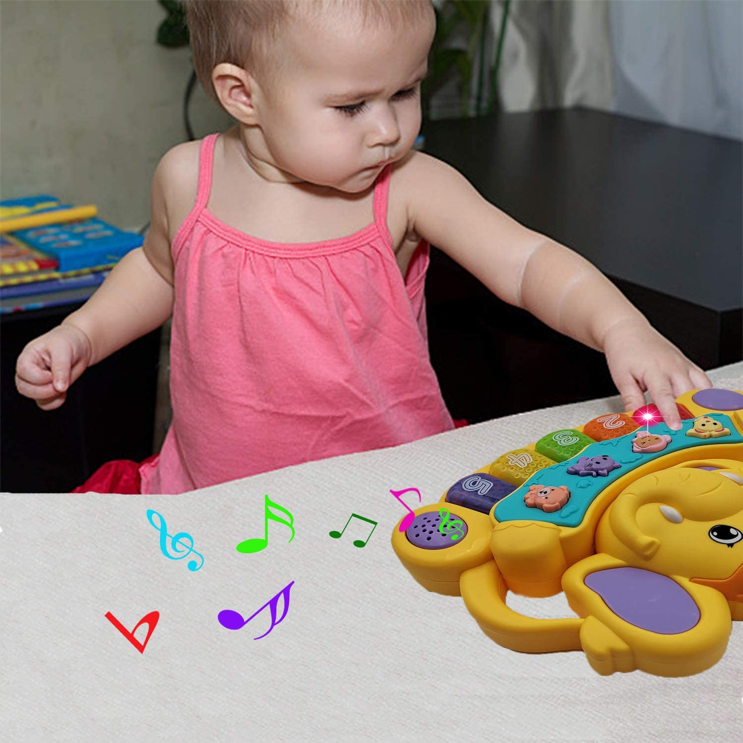 Piano Toys for 1-7 Year Old Baby Toddlers,Musical Toys for Toddlers 1-6 Toys Gift for 1-7 Year Old Girls Baby Toys 6 to 36 Months