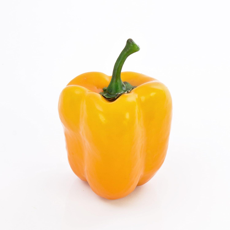 Peperone decorativo giallo, 9 cm, Ø 8 cm - Verdura artificiale / Ortaggio finto - artplants