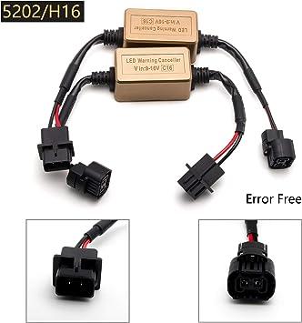 LED Warning Canceler Flicker Error Fix Capacitor H11 Head Light Low Beam Kit Fix