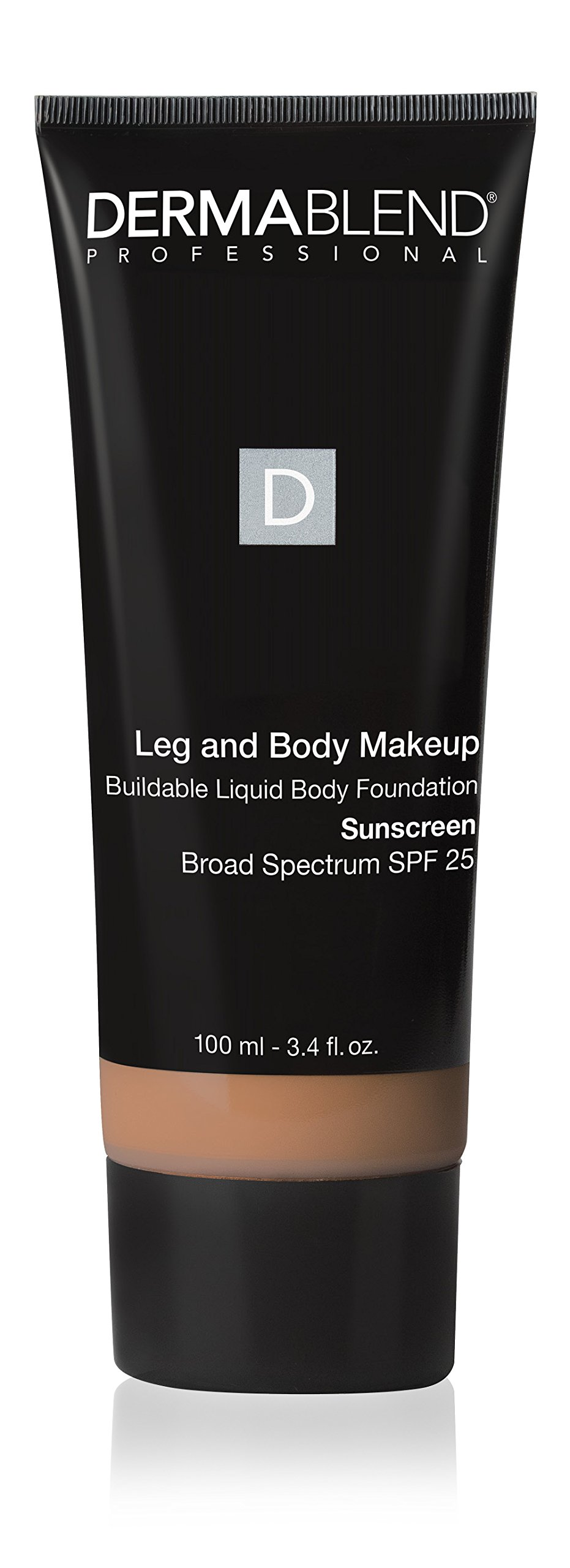 Dermablend Leg and Body Makeup Foundation with SPF 25 for Medium to High Coverage & All-day Hydration, Tattoo Cover Up Makeup, 12 Shades, 3.4 Fl. Oz.