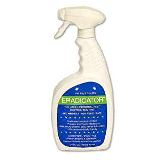 Bed Bug, Dust Mite ERADICATOR 24 oz Ready to Use Spray, Natural Solution That Safely Removes Bugs, Scientific Efficacy Test Proven