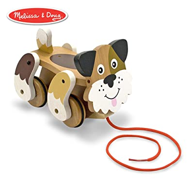 Melissa & Doug Playful Puppy Wooden Pull Toy for Beginner Walkers: Melissa & Doug: Toys & Games
