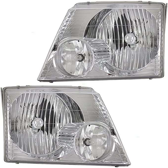 Replacement Front Headlights with Bulbs Left /& Right Newmar Dutch Star 2002-2005 RV Motorhome Pair