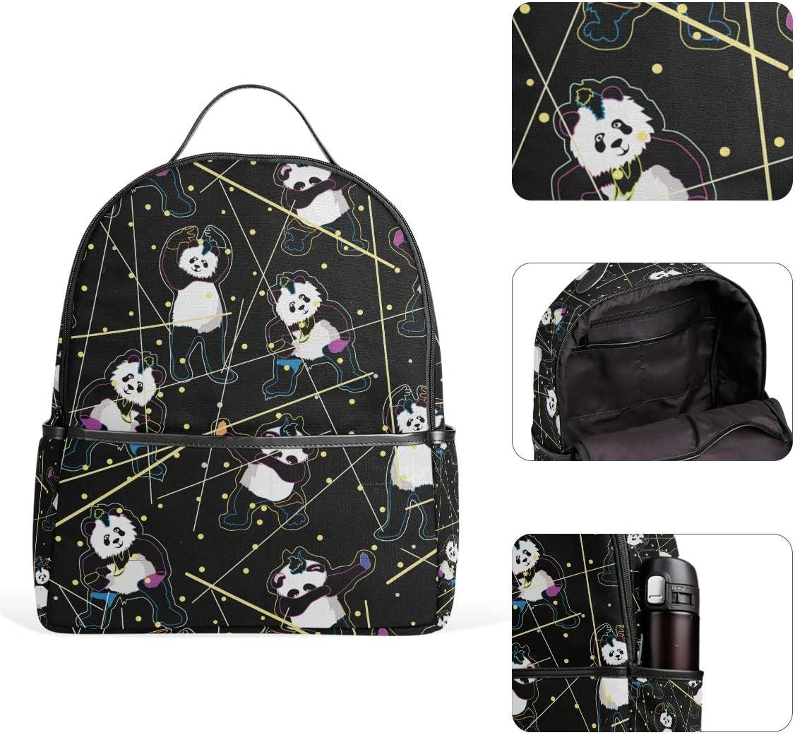Funny Dancing Pandas Backpack Bookbags Daypack Kids Girls Boys Cute Animal Backpacks Laptop Bags School Purse Travel Sports Water Resistant Men Women